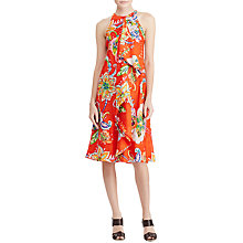 Buy Lauren Ralph Lauren Ruffled Paisley Print Dress, Orange Multi Online at johnlewis.com