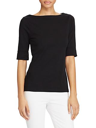 Lauren Ralph Lauren Boat Neck Top