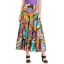 Buy Lauren Ralph Lauren Floral Print Maxi Skirt, Multi Online at johnlewis.com