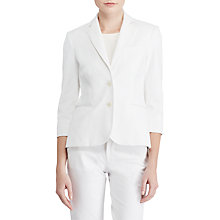 Buy Lauren Ralph Lauren Stretch Twill Jacket, White Online at johnlewis.com