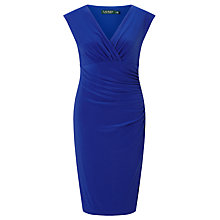 Buy Lauren Ralph Lauren Cap Sleeve Dress, Active Blue Online at johnlewis.com