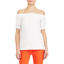 Buy Lauren Ralph Lauren Off-The-Shoulder Top, White Online at johnlewis.com