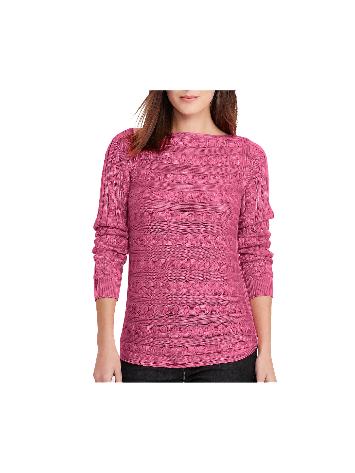 b9f86af58 Lauren Ralph Lauren Cable Knit Jumper at John Lewis   Partners