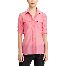 Buy Lauren Ralph Lauren Long Sleeve Silk-Blend Shirt Online at johnlewis.com