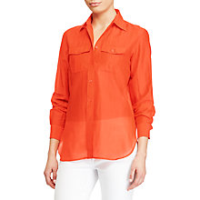 Buy Lauren Ralph Lauren Cotton-Silk Voile Shirt Online at johnlewis.com