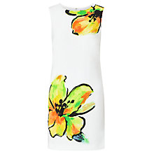 Buy Lauren Ralph Lauren Floral Print Shift Dress, White/Yellow Online at johnlewis.com