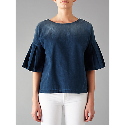 7 For All Mankind English Harbour Blouse, Denim