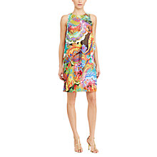 Buy Lauren Ralph Lauren Floral Print Crepe Dress, Multi Online at johnlewis.com
