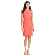 Buy Lauren Ralph Lauren Sleeveless Lace Dress, Orange Poppy Online at johnlewis.com