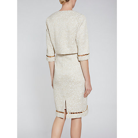 Buy Gina Bacconi Jacquard Jacket With Trim, Gold Online at johnlewis.com