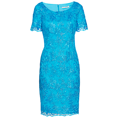 Product photo of Gina bacconi embroidered corded dress