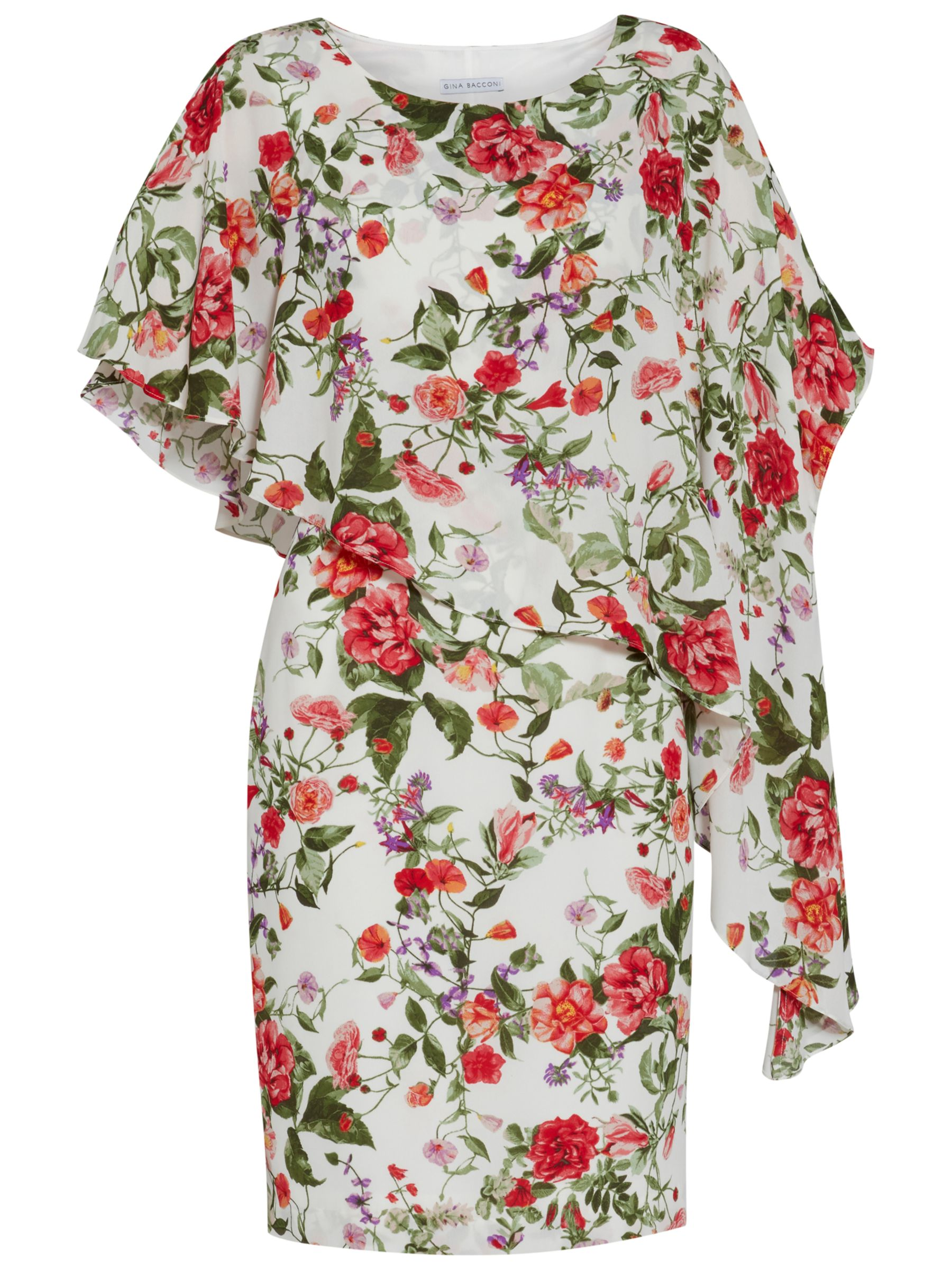Buy Gina Bacconi Summer Garden Dress Sage Red John Lewis