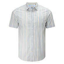 Buy John Lewis End on End Stripe Short Sleeve Shirt Online at johnlewis.com