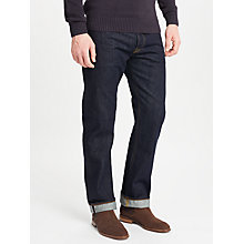 Buy JOHN LEWIS & Co. Washed Japanese Selvedge Denim Jeans, Blue Online at johnlewis.com