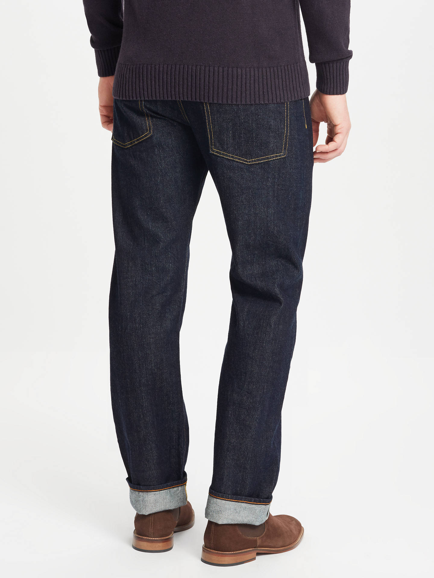 Buy JOHN LEWIS & Co. Washed Japanese Selvedge Denim Jeans, Blue, 30R Online at johnlewis.com