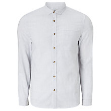 Buy Kin by John Lewis Vertical Fine Stripe Short Sleeve Shirt, White Online at johnlewis.com