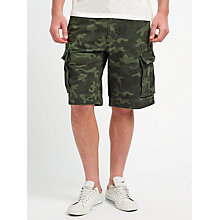 Buy JOHN LEWIS & Co. Camo Print Cargo Shorts, Green Online at johnlewis.com