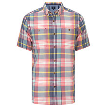 Buy John Lewis Large Scale Check Short Sleeve Shirt, Multi Online at johnlewis.com