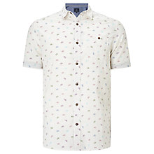 Buy John Lewis Bicycle Print Short Sleeve Shirt, Ecru Online at johnlewis.com