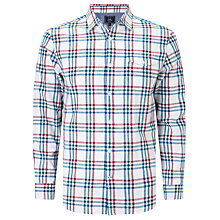 Buy John Lewis Slub Grid Check Shirt, White Online at johnlewis.com