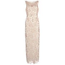 Buy Gina Bacconi Guipure Lace Maxi Dress, Almond Online at johnlewis.com