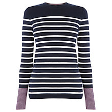 Buy Warehouse Mini Stripe Jumper, Navy Online at johnlewis.com