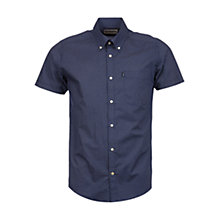 Buy Barbour Theo Micro Print Tailored Shirt, Navy Online at johnlewis.com