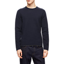 Buy Jigsaw Cotton Cashmere Jumper, Navy Online at johnlewis.com
