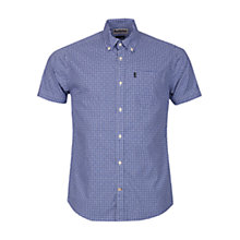 Buy Barbour Hector Micro Gingham Short Sleeve Shirt, Navy Online at johnlewis.com