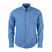 Buy Barbour Leonard Micro Gingham Long Sleeve Tailored Shirt, Navy Online at johnlewis.com