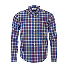 Buy Barbour Oscar Highland Check Long Sleeve Shirt, Navy Online at johnlewis.com
