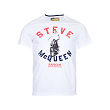 Buy Barbour International Steve McQueen Leap T-Shirt, White Online at johnlewis.com
