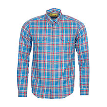 Buy Barbour International Steve McQueen West Check Shirt, Chambray Online at johnlewis.com