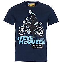 Buy Barbour International Steve McQueen Park T-Shirt, Navy Online at johnlewis.com