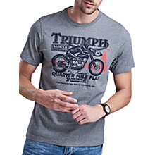 Buy Barbour International Triumph Quarter Mile T-Shirt, Grey Marl Online at johnlewis.com