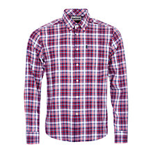 Buy Barbour Warren Highland Check Shirt, Rich Red Online at johnlewis.com