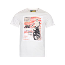 Buy Barbour International Steve McQueen Stars and Stripes T-Shirt, Neutral Online at johnlewis.com