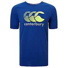 Buy Canterbury of New Zealand Vapodri Poly Logo T-Shirt, Blue Online at johnlewis.com