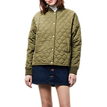 Buy Parka London Britt Quilted Bomber Jacket, Olive Online at johnlewis.com