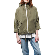 Buy Parka London Issy Cropped Parka, Soft Green Online at johnlewis.com