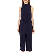 Buy Ted Baker Gwendie High Neck Culotte Jumpsuit, Dark Blue Online at johnlewis.com