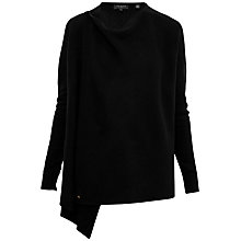 Buy Ted Baker Siara Wrap Front Cardigan, Black Online at johnlewis.com