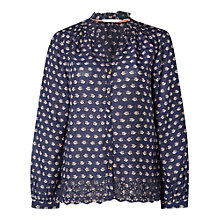 Buy White Stuff Flower Garden Shirt, Navy Online at johnlewis.com