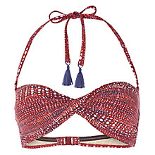 Buy White Stuff Boca Chica Spot Bandeau Bikini Top, Desert Red Online at johnlewis.com