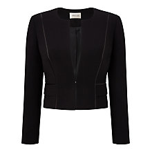 Buy Precis Petite Rebecca Compact Cropped Jacket, Black Online at johnlewis.com