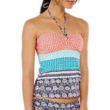 Buy White Stuff Siesta Spot Stripe Tankini Top, Shell Coral Online at johnlewis.com