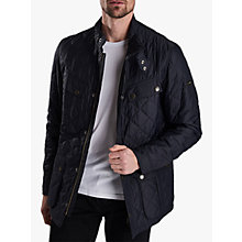 Buy Barbour Ariel Profile Quilted Jacket, Navy Online at johnlewis.com