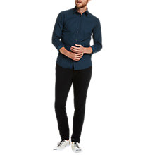 Buy Scotch & Soda Long Sleeve Poplin Geo Print Slim Shirt, Combo E Online at johnlewis.com