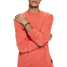Buy Scotch & Soda Crew Neck Sweatshirt, Tangerine Online at johnlewis.com