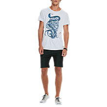 Buy Scotch & Soda Snake Print T-Shirt, White Online at johnlewis.com